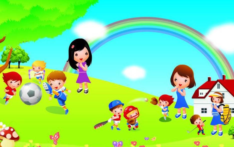 幼儿园快乐游戏:颜色赛跑